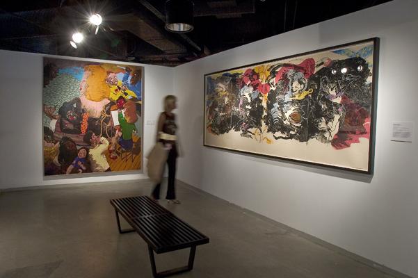 """Robert Colescott (from the """"Black"""" show) @ 40 Acres"""
