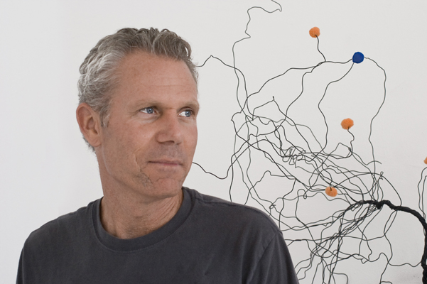 Robert Ortbal in the Studio, Emeryville 2008.  Photo: David M. Roth
