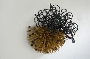 mistletoe_2008_30-x-27-x-19_wood_soaker-hose_seed-pods_foam_paint